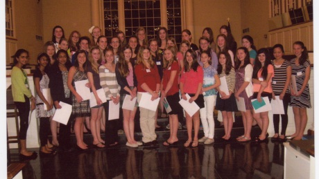 2012 Young Women's Recognition Night honorees